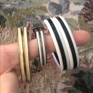 3 vintage hoop earrings bundle